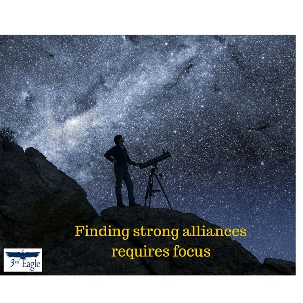 Finding right alliances requires focus